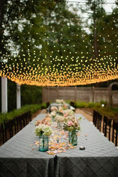 DIY decoration ideas table decorations for garden party