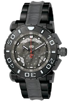 Invicta Men's Reserve Chrono Black IP SS Grey Transparent Dial - Watch 6315,    #Invicta,    #6315,    #WatchesDiverQuartz