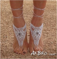 Beach Barefoot Sandals,White Silver Barefoot sandles,Beach Pool,Nude shoes,Foot jewelry, Beaded sandals,Bridal,Beach wedding on Etsy, $15.00