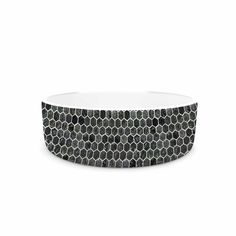 """Petit Griffin """"Marble"""" Gray Abstract Pet Bowl"""