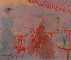 Louis Icart, Café place Blanche
