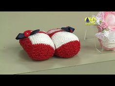 Vida com Arte | Sapatinho em tricô para menina por Jaqueline Santos - 04...