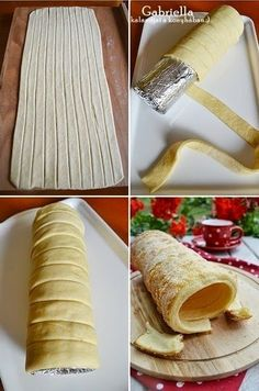 Gabriella's Adventures in the Kitchen :): Chimney Cake (vanilla-lemon) - baked in the oven Hungarian Desserts, Hungarian Recipes, Bakery Recipes, Dessert Recipes, Cooking Recipes, Creative Kitchen, Kurtos Kalacs, Chimney Cake, Tiny Food