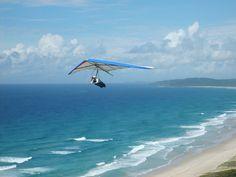 http://www.TravelPod.com - Swedish girl hang gliding by TravelPod member Saskiab, from Byron Bay, Australia