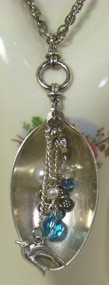 Vintage Silverplate Spoon Pendant Necklace by BellasVintageCottage