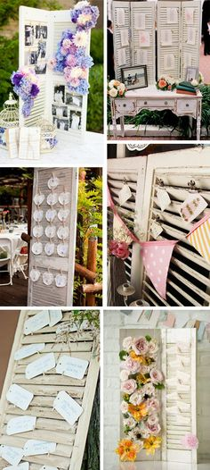 shutter inspiration...cute ideas for name place holders and table seating