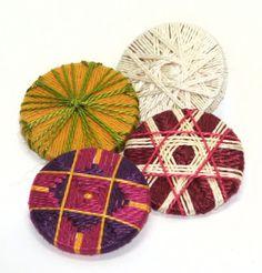Gillian McMurray: Artist & Craftsperson: A resurgence of buttons. Thread wrapped passementerie buttons.
