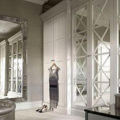 X Mullion Closets, Transitional, closet, The English Wardrobe