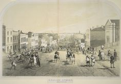 Collins Street (Looking West from Russel St.) 1853