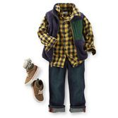 Extra plush velboa fleece vest and flannel shirt pair easily with his favorite jeans. These pieces make a great outfit and will look great with the rest of his wardrobe, too!