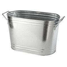 Galvanised Oval Ice Bucket With Handle