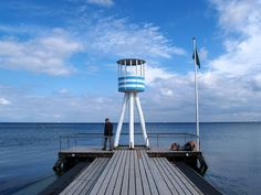 One of Jacobsen's lifeguard towers at Bellevue Beach