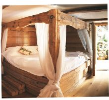 Beautiful massive four poster bed