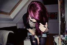 Burgundy hair! So pretty