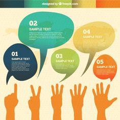 Discurso Aquarela bolhas infográfico