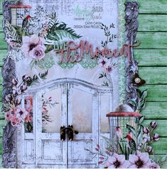 Jan 2019 Class kit layout created with Mintay Papers Secret Place Collection. Book Journal, Journals, Lemon Crafts, Secret Places, Paper Design, Scrapbook Pages, Vintage Photos, Serenity, Card Ideas