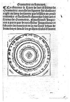 Géométrie en françoys. Cy commence le Livre de l'art et Science de Geometrie ... - Charles de Bouelles - Google Livres