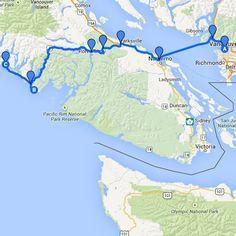 Vancouver to Tofino roadtrip