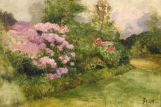 Rose Garden m Study  -  Ferdinand Heilbuth   French 1826-1889