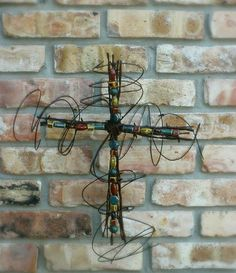 Rustic Barbed Wire Cross...another must have!