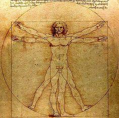 Da Vinci, Vitruvian Man, c 1492 Vitamin B12, Michelangelo, Saint Empire Romain, Squaring The Circle, Snow Angels, Love Blue, Psychology Facts, Science Art, Creative Art