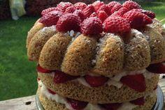 Sweet Cornbread Cake—layered and beautiful!