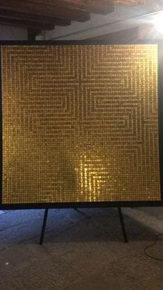 Formación en @trendgroupspa: visita el taller de Orsoni, propiedad del grupo y donde se realiza, desde el 1888, la fabricación única de Smalti Veneziani y mosaico con pan de oro.  #formacion #VillaAlleScalette #Venecia #diseño #mosaicos #arte #decoracion #interiordesign #art #design Interiores Design, Credenza, Cabinet, Storage, Color, Furniture, Home Decor, Gold Leaf, Venice