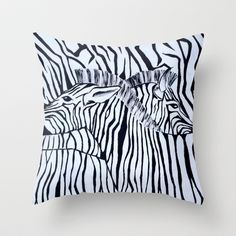 Zebra  Throw Pillow by Katie Runnerstrom - $20.00