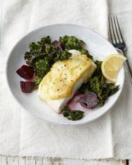 Halibut with Roasted Beets