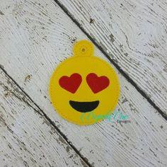 love emoji ornament