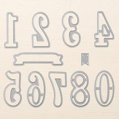 Large Numbers Framelits Dies by Stampin' Up!