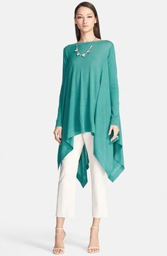 St. John Collection Bateau Neck Stockinette Knit Tunic available at #Nordstrom
