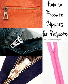 Sewing zippers can be tricky and it's a must to make them look clean and tidy. Learn to how prepare your zippers for any kind of projects.