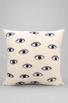 Pin for Later: Editor Picks: October Home Must Haves Whether you use it to ward off evil or add a sense of whimsy, this embroidered eye pillow ($34) definitely makes a statement. — AE
