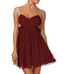 Find More Homecoming Dresses Information about Chiffon Short Simple Burgundy Homecoming Dresses Spaghetti Straps Sexy Plus Size Prom Graduation Club Dresses robe de bal courte,High Quality robe sexy,China dress up summer clothes Suppliers, Cheap dresses blue from Top Bridal on Aliexpress.com