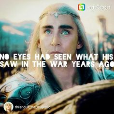 This is for all the people who only knows Thranduil through Peter Jackson's movies, Thranduil is so much than a sass and drunken king! he is a legendary warrior who protected that land for thousand of years, he saw many wars before and if you read Tolkien could find an extraordinary King!