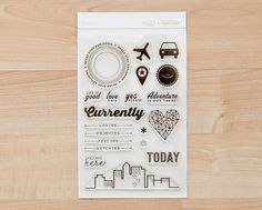 Stamp Set: Aloha. The stamp set I designed for @studio_calico is back in stock! Perfect for Project Life :)