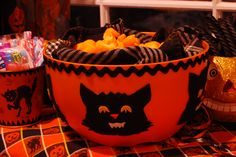 Decorate a dollar store bowl for Halloween