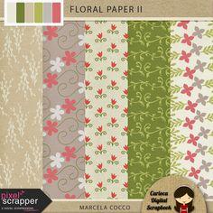 FREE Floral Paper : Carioca Digital Scrapbook