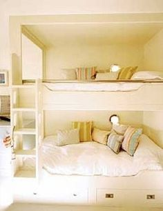 Built-in Bunk Bed. Perfect for a shared bedroom.