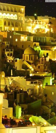 Fira Santorini By Night