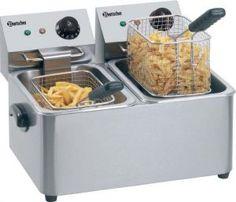 Friteuse électrique double 2 bacs de 4 litres.