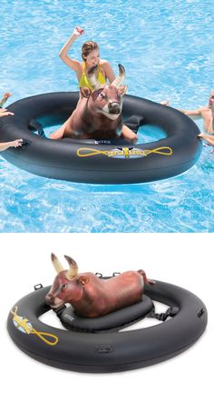 Pool bull riding raft. WHERE CAN WE GET THIS?