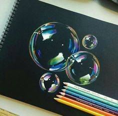 bubble drawing on black paper에 대한 이미지 검색결과