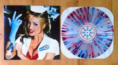 mrpixelface: Blink 182 - Enema of the State. Clear with Blue/Red splatter /2700