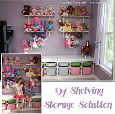 Organizing Girls' Toys, Girls' Room Organization