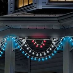 LED Star Lights July 4th Outdoor Porch Decorations Garden Patio
