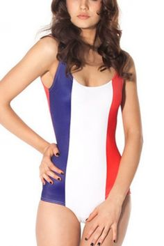 Red, white and blue one piece.