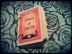 """Made this pinterest inspired gift for my fiance. Can't wait to give it to him!!! """"52 reasons why I love you"""" on playing cards"""