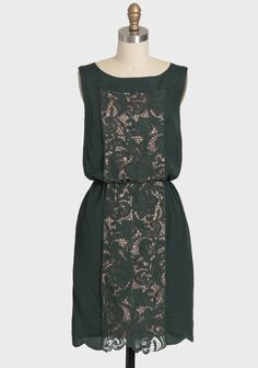 Imperial Elegance Dress By Jessica Simpson | Modern Vintage Dresses  ~I'd like to put a lace panel like this in a dress.